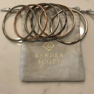 Kendra Scott Mixed Metal Bangles.